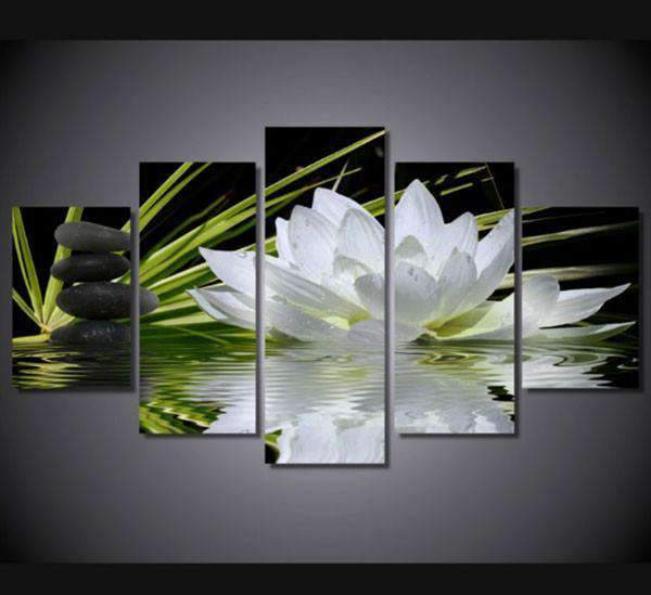 Herogameszone Flower Canvas Printed Wall Art Medium / No Frame Canvas Printed Wall Art