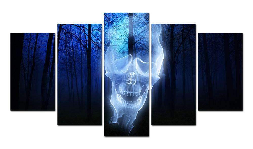 Herogameszone Forest Skull Ghost Canvas Printed Wall Art Medium / No Frame Canvas Printed Wall Art