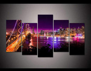 Herogameszone Gate Bridge San Francisco Canvas Printed Wall Art Medium / No Frame Canvas Printed Wall Art