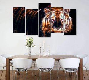 Herogameszone Glowing Tiger Canvas Printed Wall Art Canvas Printed Wall Art