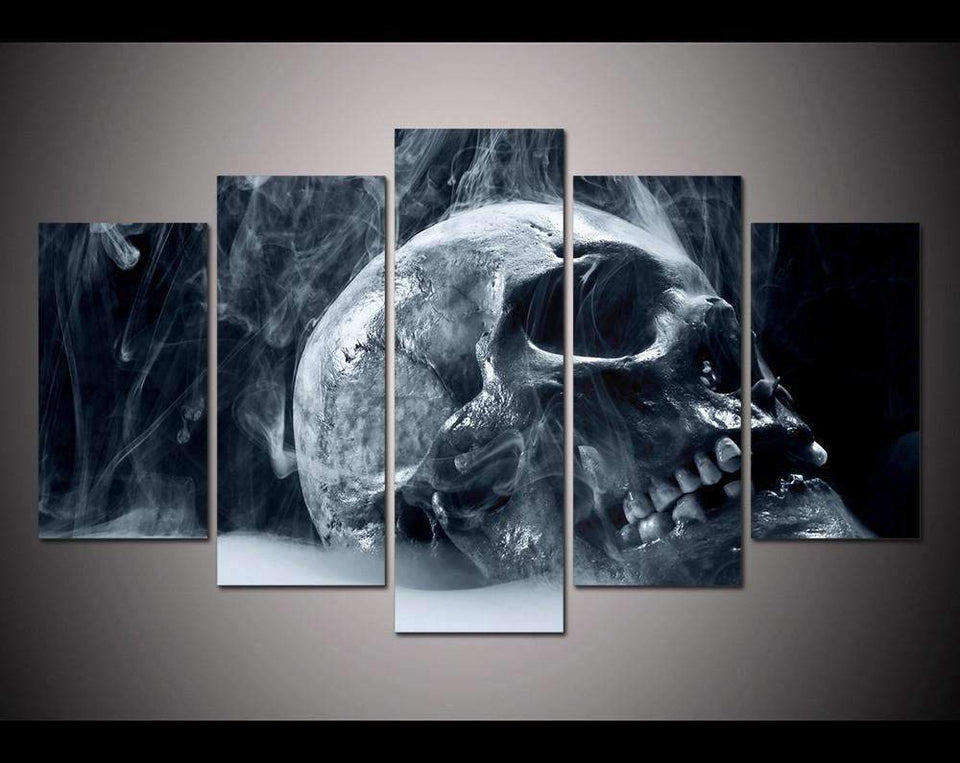Herogameszone Horror Skull Canvas Printed Wall Art Medium / No Frame Canvas Printed Wall Art