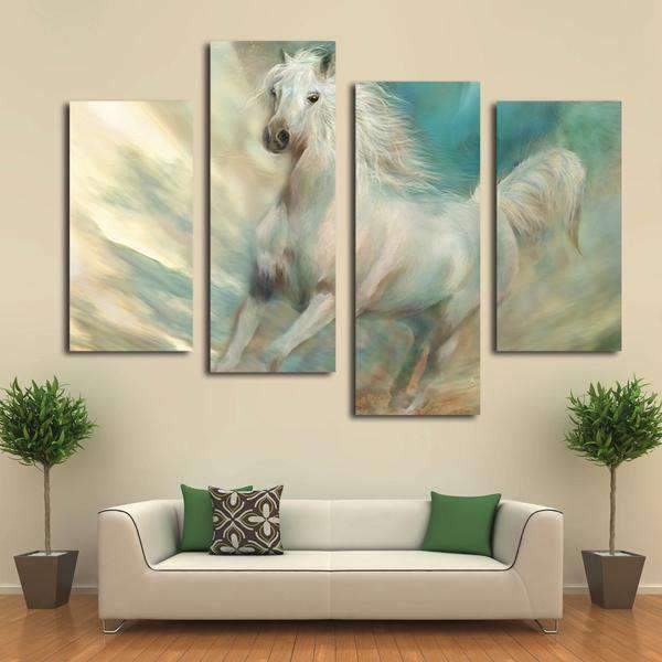 Herogameszone Horse Canvas Printed Wall Art Medium / No Frame Canvas Printed Wall Art