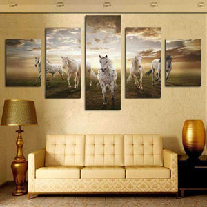 Herogameszone Horses Canvas Printed Wall Art Canvas Printed Wall Art