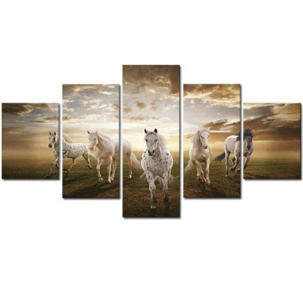 Herogameszone Horses Canvas Printed Wall Art Medium / No Frame Canvas Printed Wall Art