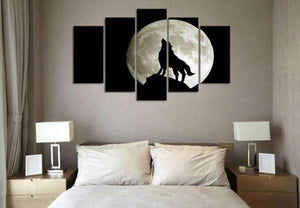 Herogameszone Howling Wolf Canvas Printed Wall Art Canvas Printed Wall Art