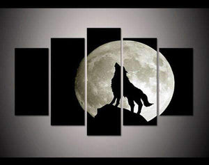 Herogameszone Howling Wolf Canvas Printed Wall Art Medium / No Frame Canvas Printed Wall Art