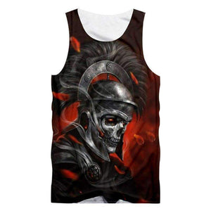 Herogameszone Knight Skull Tank Top Sleeveless S Tank Top Sleeveless