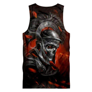 Herogameszone Knight Skull Tank Top Sleeveless Tank Top Sleeveless