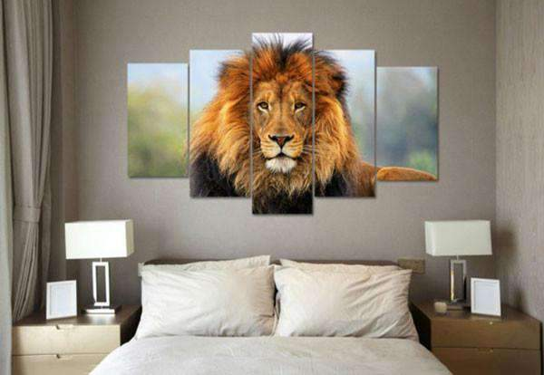 Herogameszone Lion Canvas Printed Wall Art Canvas Printed Wall Art