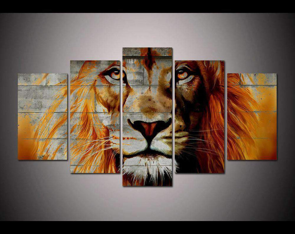 Herogameszone Lion Canvas Printed Wall Art Medium / No Frame Canvas Printed Wall Art