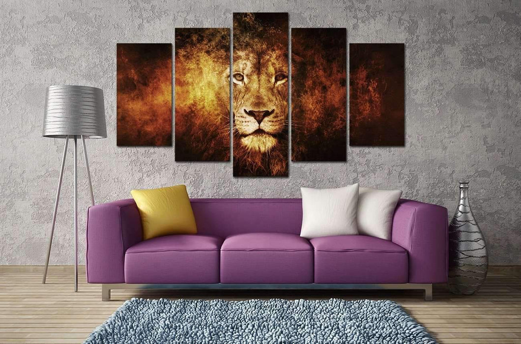 Herogameszone Lion King Canvas Printed Wall Art Canvas Printed Wall Art