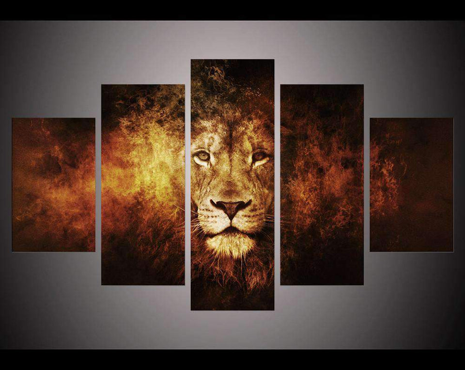 Herogameszone Lion King Canvas Printed Wall Art Medium / No Frame Canvas Printed Wall Art