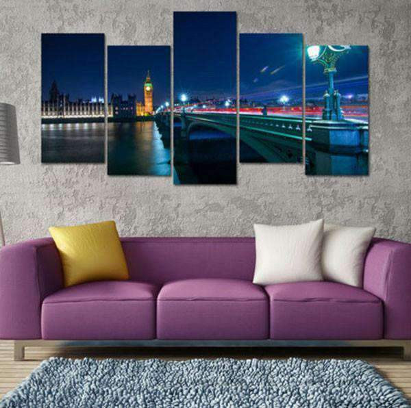 Herogameszone London Night Cityscape Canvas Printed Wall Art Canvas Printed Wall Art