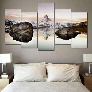 Herogameszone Matterhorn in Alps Canvas Printed Wall Art Canvas Printed Wall Art