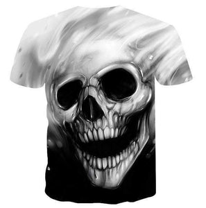 Herogameszone Melted Skull 3D T-Shirt Short Sleeve 3D T-Shirt Short Sleeve