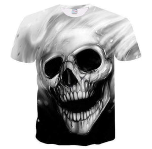 Herogameszone Melted Skull 3D T-Shirt Short Sleeve M 3D T-Shirt Short Sleeve