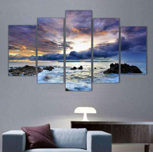 Herogameszone Ocean Seascape Canvas Printed Wall Art Medium / No Frame Canvas Printed Wall Art