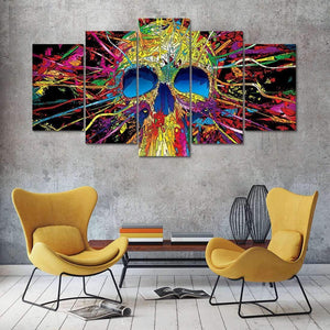 Herogameszone Psychedelic Skull Canvas Printed Wall Art Canvas Printed Wall Art
