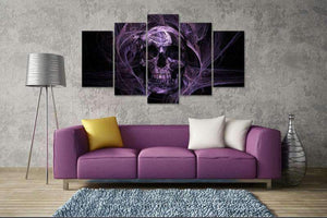 Herogameszone Purple Skull Canvas Printed Wall Art Canvas Printed Wall Art