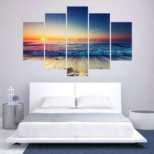 Herogameszone Seascape Sunrise Canvas Printed Wall Art Canvas Printed Wall Art