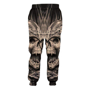 Herogameszone Skull 3D Casual Pants Long Sleeve 3D Casual Pants Long Sleeve