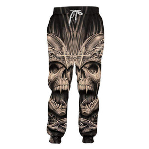 Skull 3D Printed Long Casual pants
