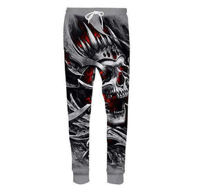 Skull 3D Printed Long Casual jogger pants