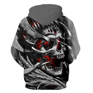 Herogameszone Skull 3D Hoodie with Zipper Long Sleeve 3D Hoodie with Zipper Long Sleeve