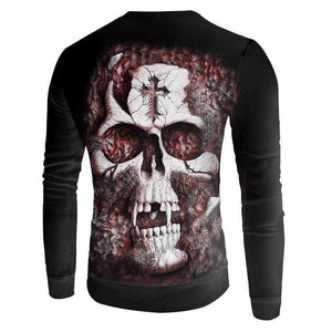 Herogameszone Skull 3D Sweatshirt Long Sleeve 3D Sweatshirt Long Sleeve