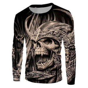 Herogameszone Skull 3D Sweatshirt Long Sleeve S 3D Sweatshirt Long Sleeve
