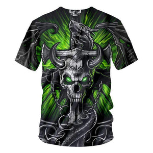 Herogameszone Skull 3D T-Shirt Short Sleeve 3D T-Shirt Short Sleeve