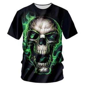 Herogameszone Skull 3D T-Shirt Short Sleeve S 3D T-Shirt Short Sleeve