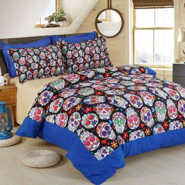 Herogameszone Skull Bedding Set Full Bedding Set