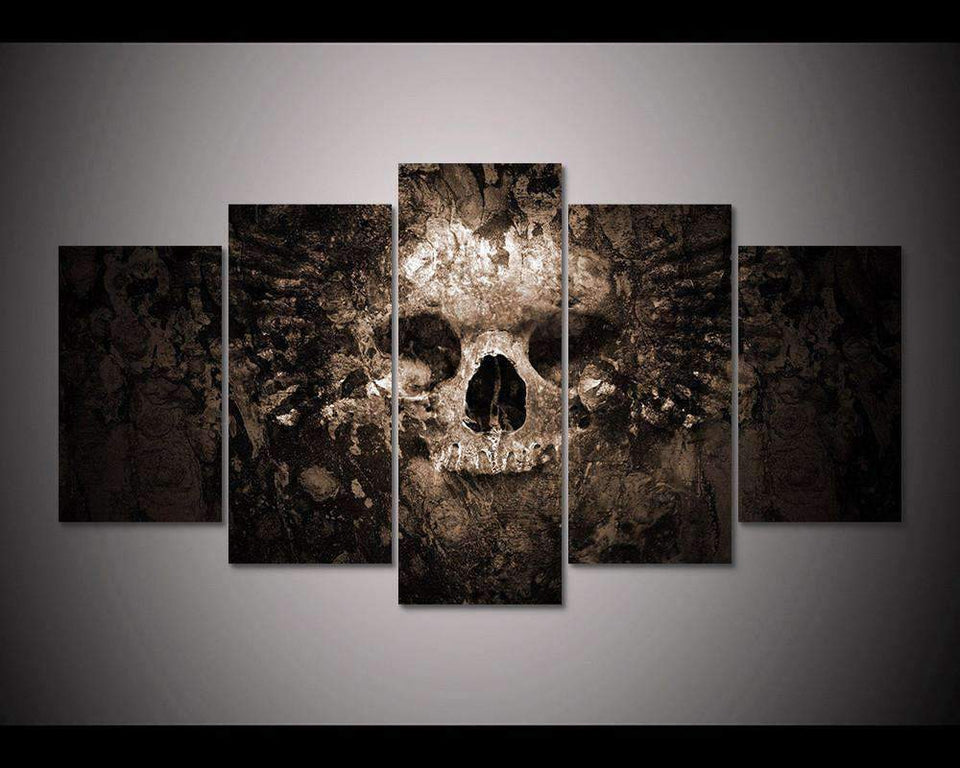 Herogameszone Skull Canvas Printed Wall Art Medium / No Frame Canvas Printed Wall Art