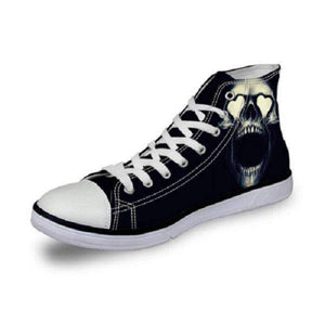 Herogameszone Skull Canvas Shoes For Men's High-Top Printed Casual - 10 Styles 1 / US 5 Canvas Shoes For Men's High-Top Printed Casual - 10 Styles