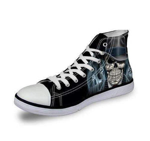 Skull Canvas High Tops