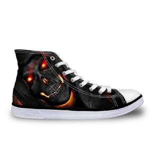 Herogameszone Skull Canvas Shoes For Men's High-Top Printed Casual - 11 Styles 4 / US 5 Canvas Shoes For Men's High-Top Printed Casual - 11 Styles