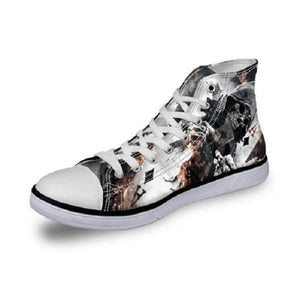 Herogameszone Skull Canvas Shoes For Men's High-Top Printed Casual - 11 Styles 8 / US 5 Canvas Shoes For Men's High-Top Printed Casual - 11 Styles