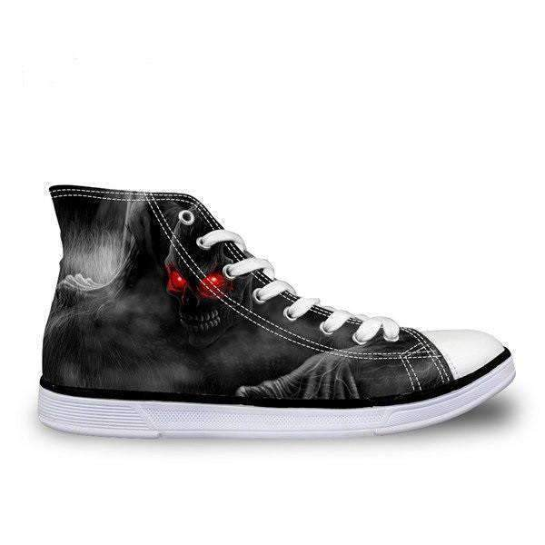 Herogameszone Skull Canvas Shoes For Men's High-Top Printed Casual - 9 Styles 5 / # 2 Canvas Shoes For Men's High-Top Printed Casual - 9 Styles