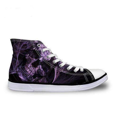 Herogameszone Skull Canvas Shoes For Men's High-Top Printed Casual - 9 Styles 5 / # 3 Canvas Shoes For Men's High-Top Printed Casual - 9 Styles