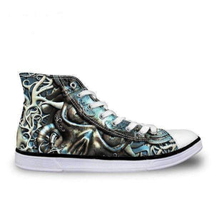 Herogameszone Skull Canvas Shoes For Men's High-Top Printed Casual - 9 Styles 5 / # 5 Canvas Shoes For Men's High-Top Printed Casual - 9 Styles