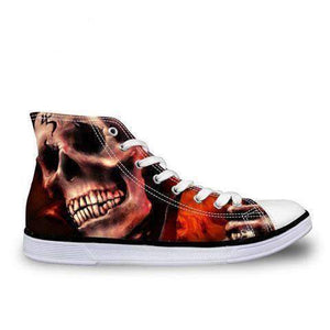 Herogameszone Skull Canvas Shoes For Men's High-Top Printed Casual - 9 Styles 5 / # 6 Canvas Shoes For Men's High-Top Printed Casual - 9 Styles