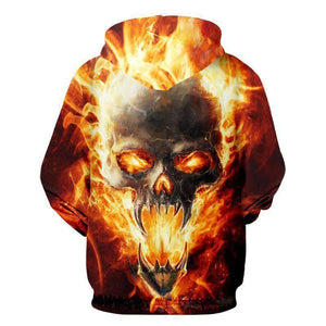 Herogameszone Skull Fire 3D Hoodie with Zipper Long Sleeve 3D Hoodie with Zipper Long Sleeve
