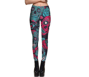 Skull Leggings For Women