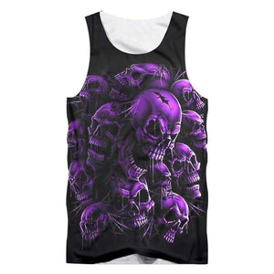 Herogameszone Skull Tank Top Sleeveless Purple / S Tank Top Sleeveless