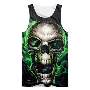 Herogameszone Skull Tank Top Sleeveless S Tank Top Sleeveless