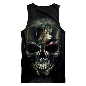 Herogameszone Skull Tank Top Sleeveless Tank Top Sleeveless