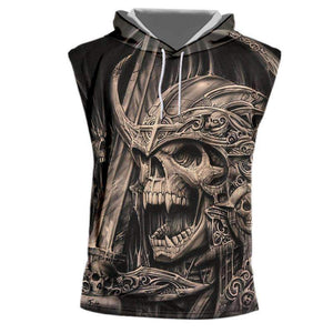 Skull Hooded Tank Top