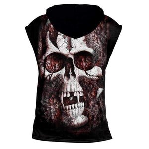 Herogameszone Skull Tank Top Sleeveless With Hooded Tank Top Sleeveless With Hooded