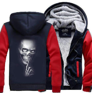Skull Fleece Zipper Jacket
